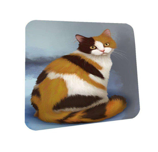 British Shorthaired Calico Cat Coasters Set of 4