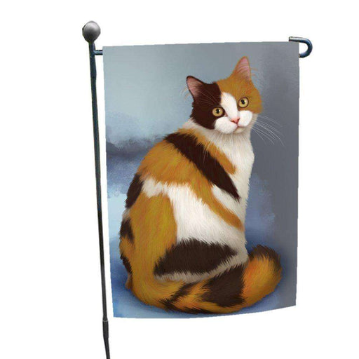 British Shorthaired Calico Cat Garden Flag