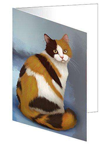 British Shorthaired Calico Cat Greeting Card