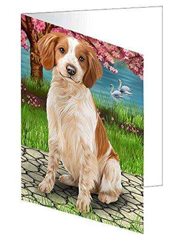 Brittany Spaniel Dog Greeting Card D479