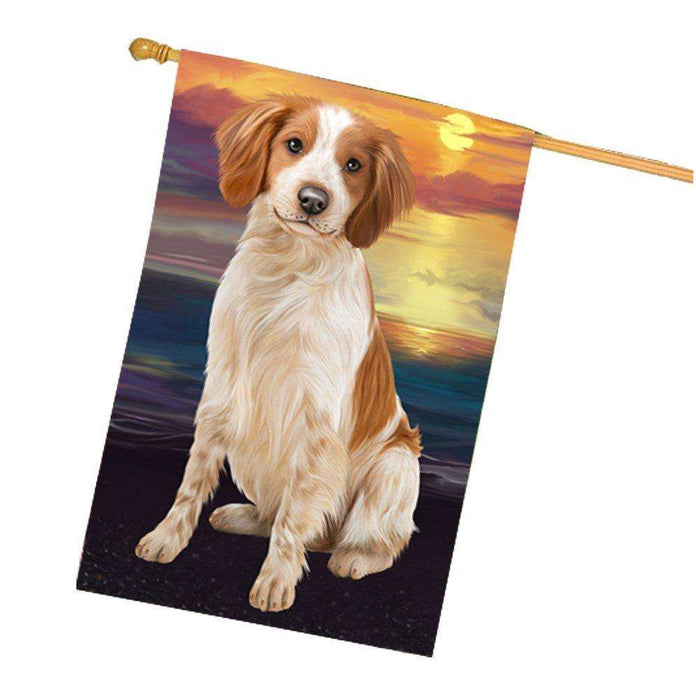 Brittany Spaniel Dog House Flag HF406