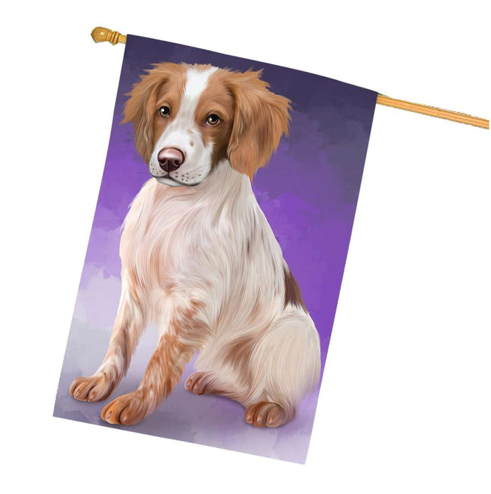 Brittany Spaniels Dog House Flag