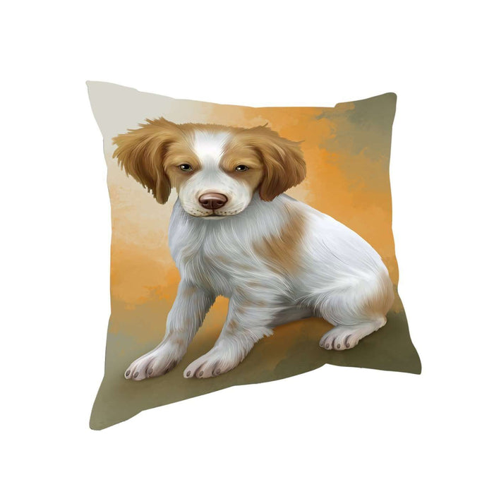 Brittany Spaniels Dog Throw Pillow D302