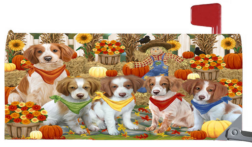 Magnetic Mailbox Cover Harvest Time Festival Day Brittany Spaniels Dog MBC48026