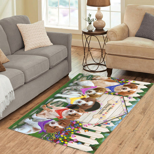 Personalized Spring Dog House Brittany Spaniel Dogs Custom Garden Flags GFLG-DOTD-A62784