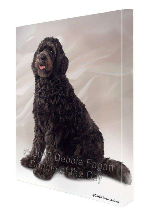 Brown Labradoodle Dog Canvas Wall Art