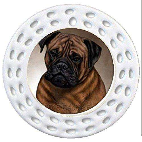 Bull Mastiff Dog Art Portrait Print Christmas Holiday Ornament