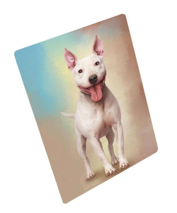 Bull Terrier Dog Art Portrait Print Woven Throw Sherpa Plush Fleece Blanket
