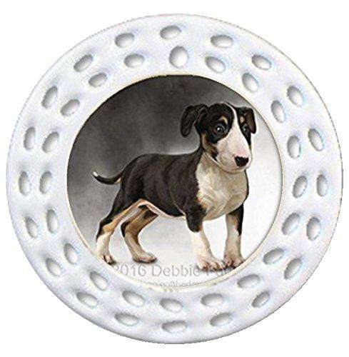 Bull Terrier Dog Art Portrait Print1 Christmas Holiday Ornament