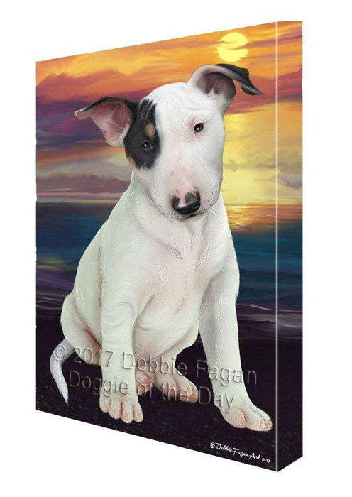 Bull Terrier Dog Canvas Wall Art D399