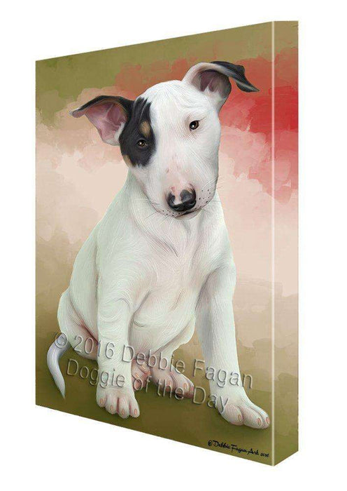 Bull Terrier Dog Canvas Wall Art