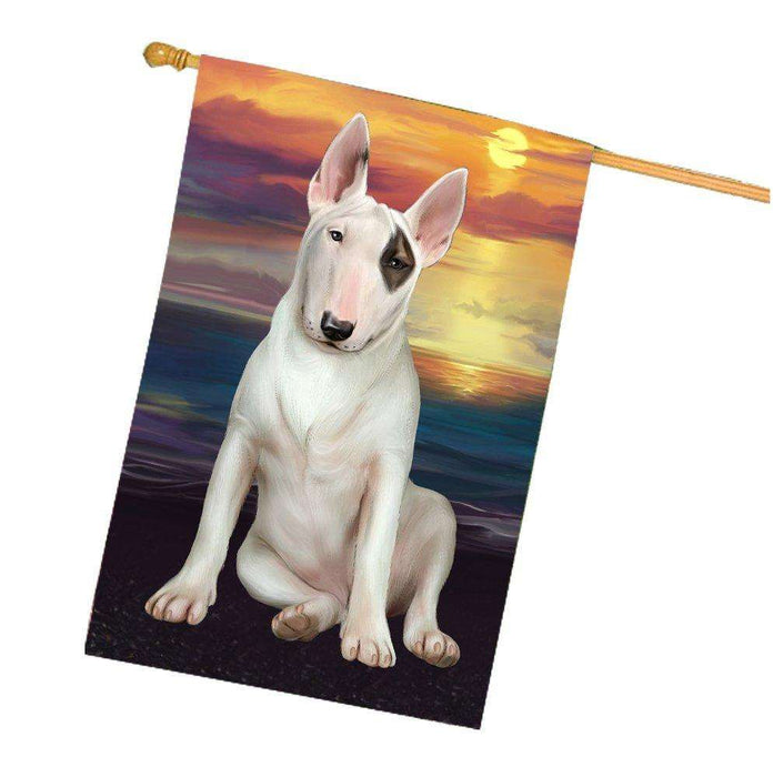 Bull Terrier Dog House Flag HF302