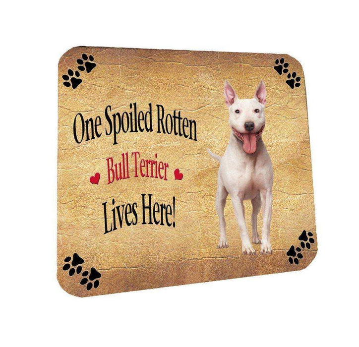Bull Terrier Spoiled Rotten Dog Coasters Set of 4