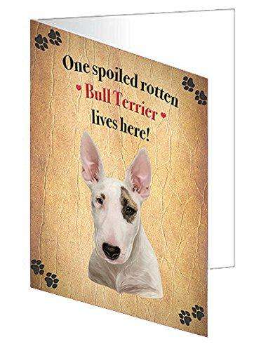 Bull Terrier Spoiled Rotten Dog Greeting Card