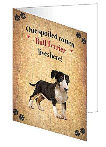 Bull Terrier Spoiled Rotten Dog Note Cards
