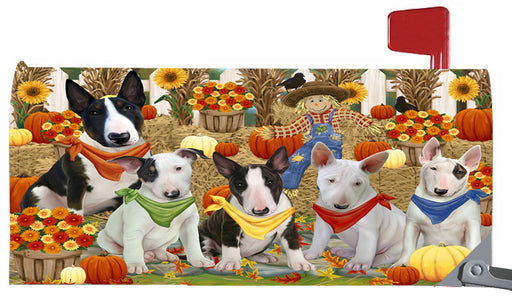 Magnetic Mailbox Cover Harvest Time Festival Day Bull Terriers Dog MBC48027