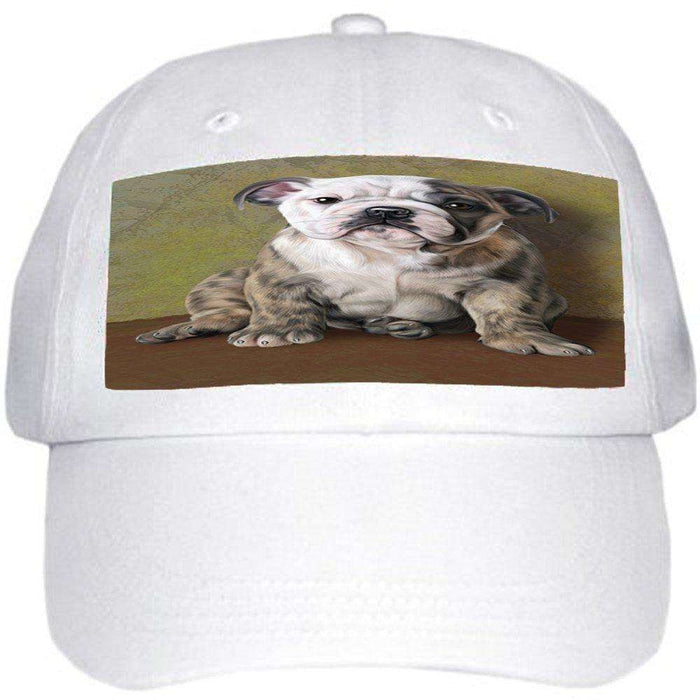 Bulldog Dog Ball Hat Cap