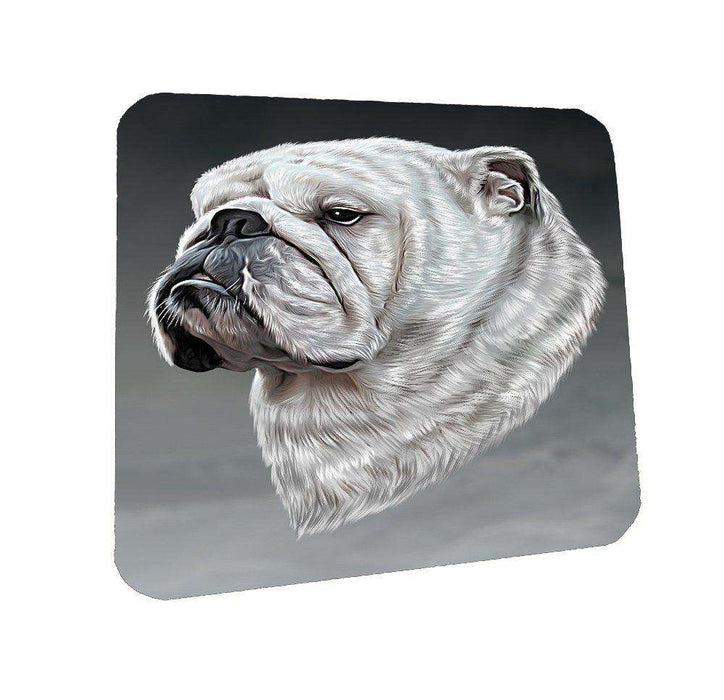 Bulldog Dog Coasters Set of 4