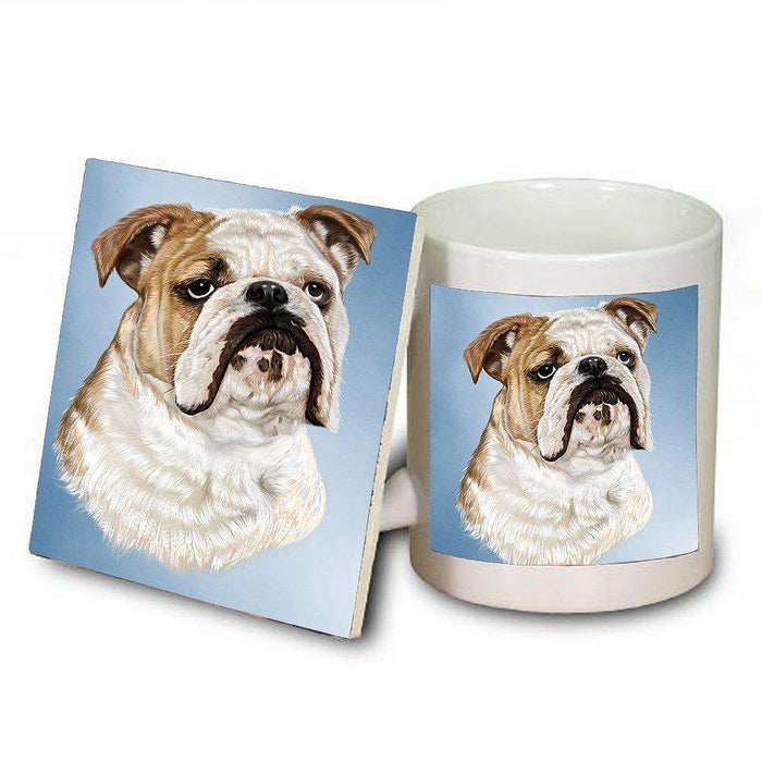 Bulldog Dog Mug and Coaster Set