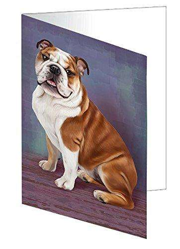 Bulldog Dog Note Card
