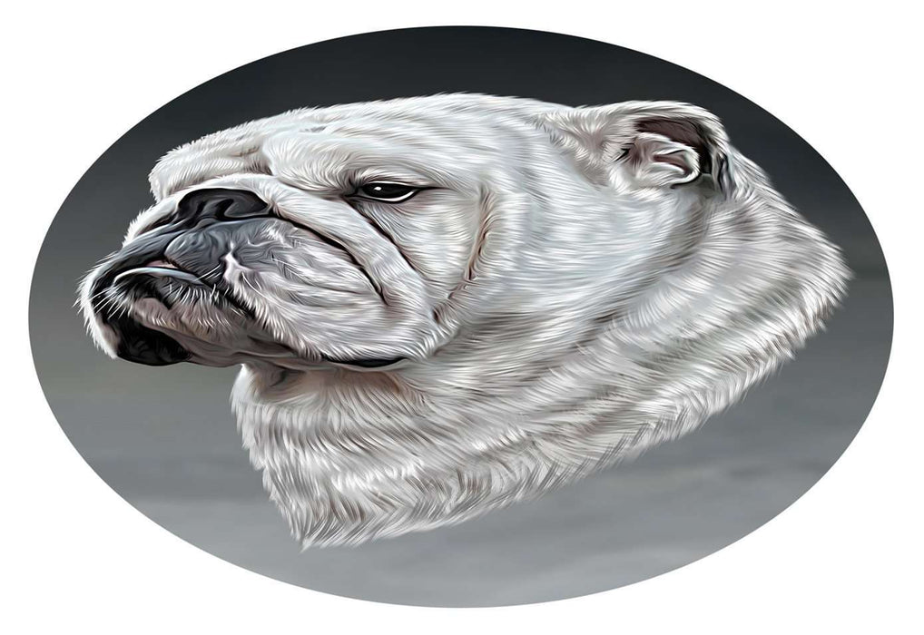 Bulldog Dog Oval Envelope Seals