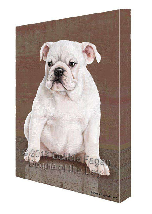 Bulldog Dog Painting Printed on Canvas Wall Art