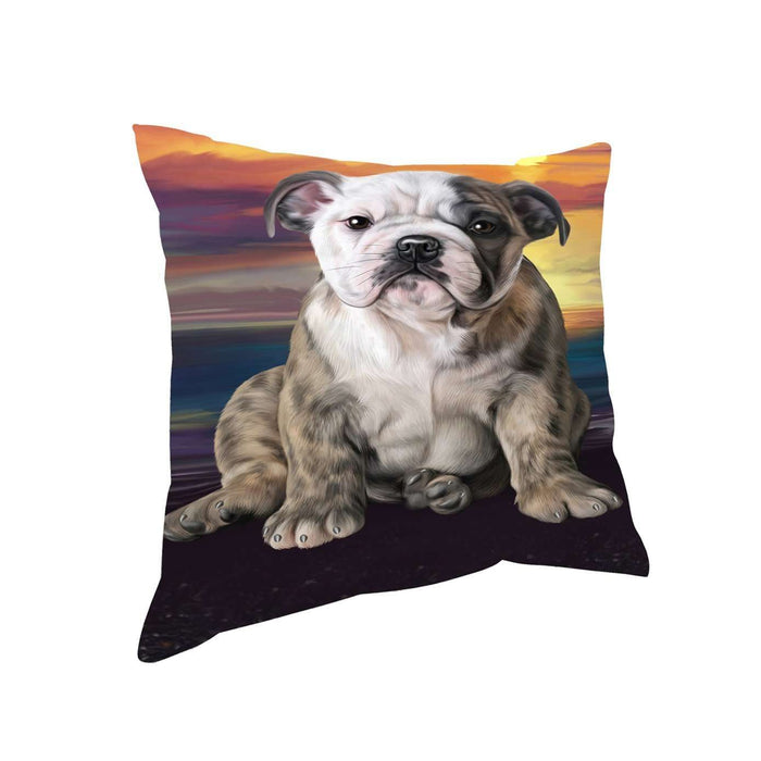 Bulldog Dog Throw Pillow
