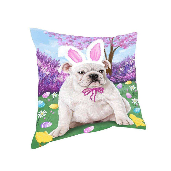 Bulldog Easter Holiday Pillow PIL52176