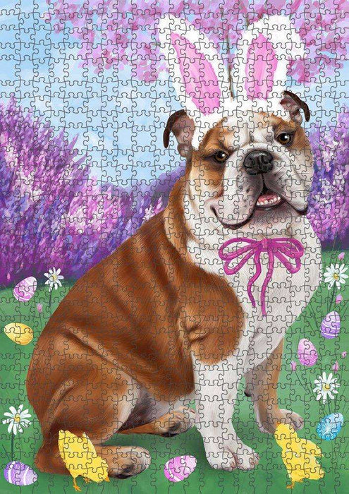 Bulldog Easter Holiday Puzzle with Photo Tin PUZL50271