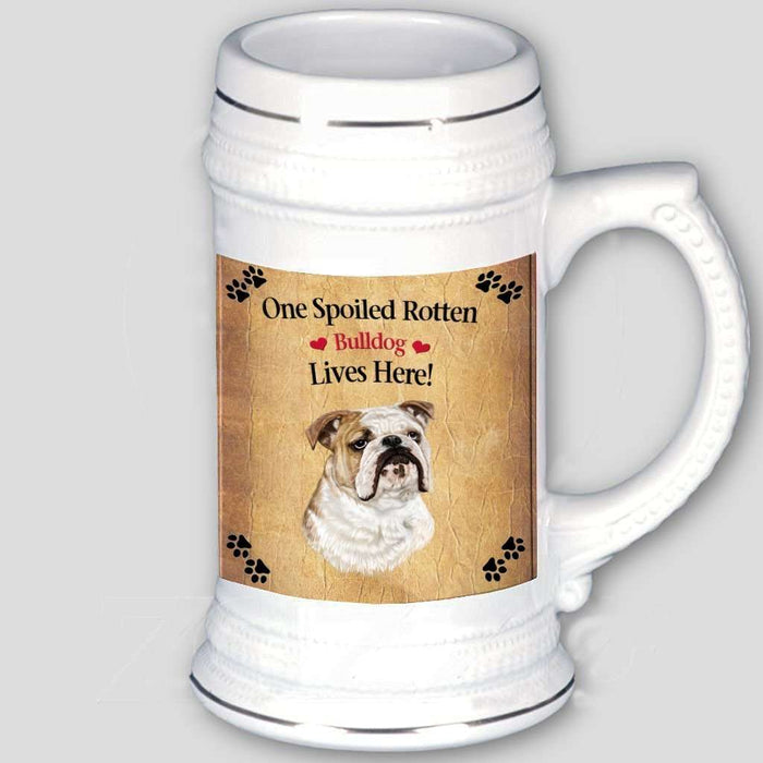 Bulldog Spoiled Rotten Dog Beer Stein