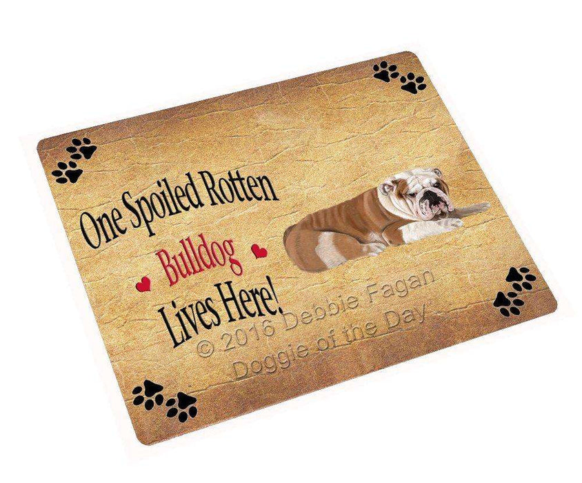 Bulldog Spoiled Rotten Dog Magnet