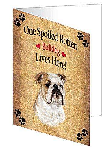 Bulldog Spoiled Rotten Dog Note Card