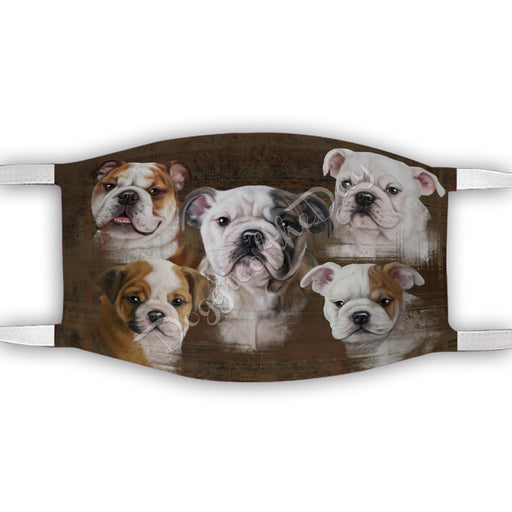Rustic Bulldog Dogs Face Mask FM50039