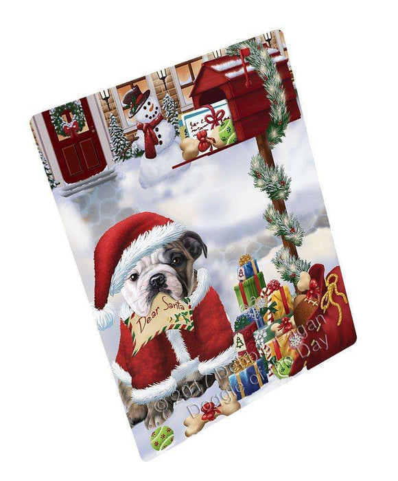 "Bulldogs Dear Santa Letter Christmas Holiday Mailbox Dog Magnet Mini (3.5"" x 2"")"