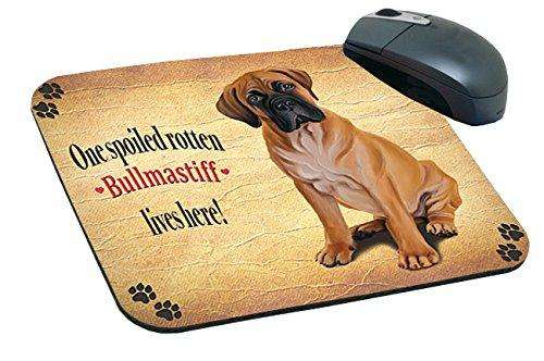 Bullmastiff Spoiled Rotten Dog Mousepad
