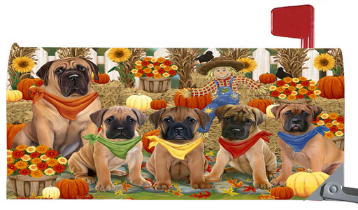 Magnetic Mailbox Cover Harvest Time Festival Day Bullmastiffs Dog MBC48029