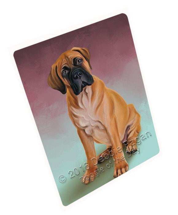 Bullmastiffs Dog Art Portrait Print Woven Throw Sherpa Plush Fleece Blanket D149