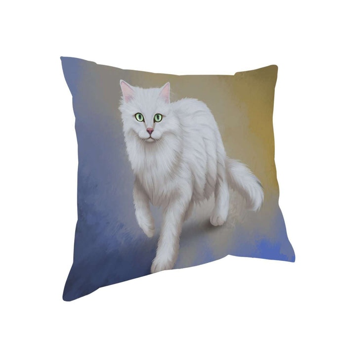 Burmilla Tiffanie Cat Throw Pillow D328