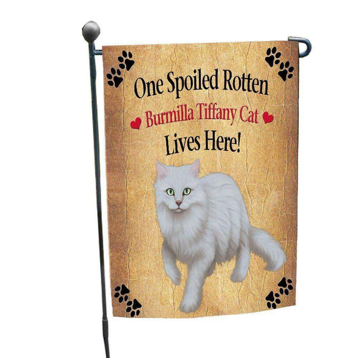 Burmilla Tiffany Spoiled Rotten Cat Garden Flag
