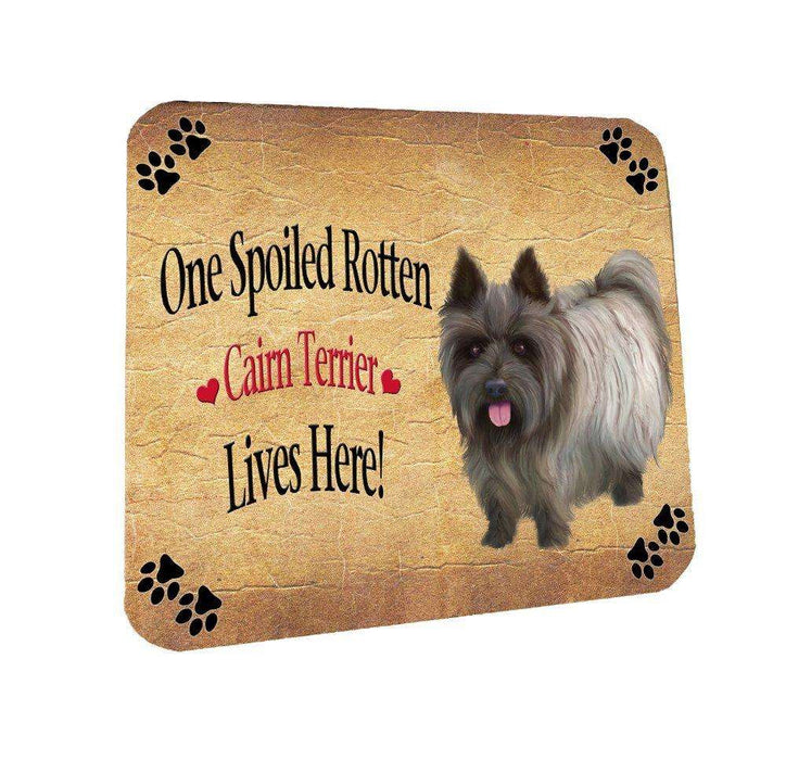 Cairn Terrier Spoiled Rotten Dog Coasters Set of 4