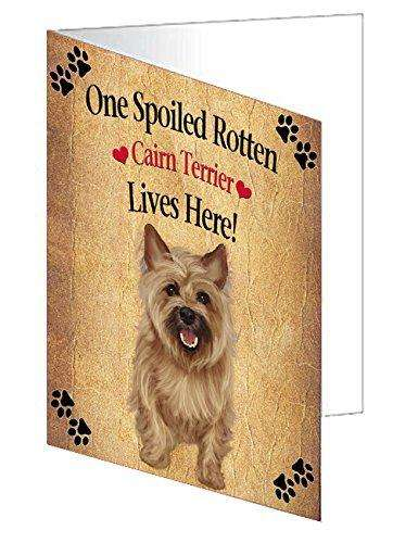 Cairn Terrier Spoiled Rotten Dog Greeting Card