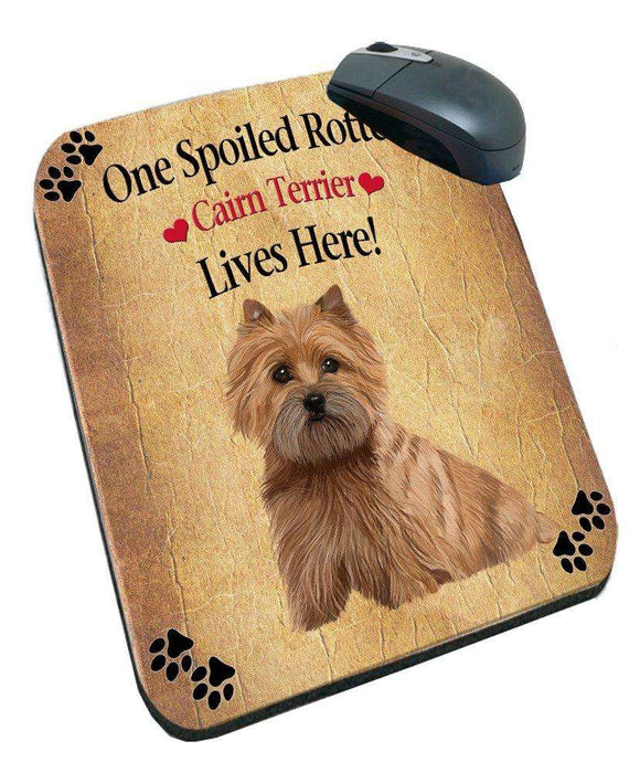 Cairn Terrier Spoiled Rotten Dog Mousepad