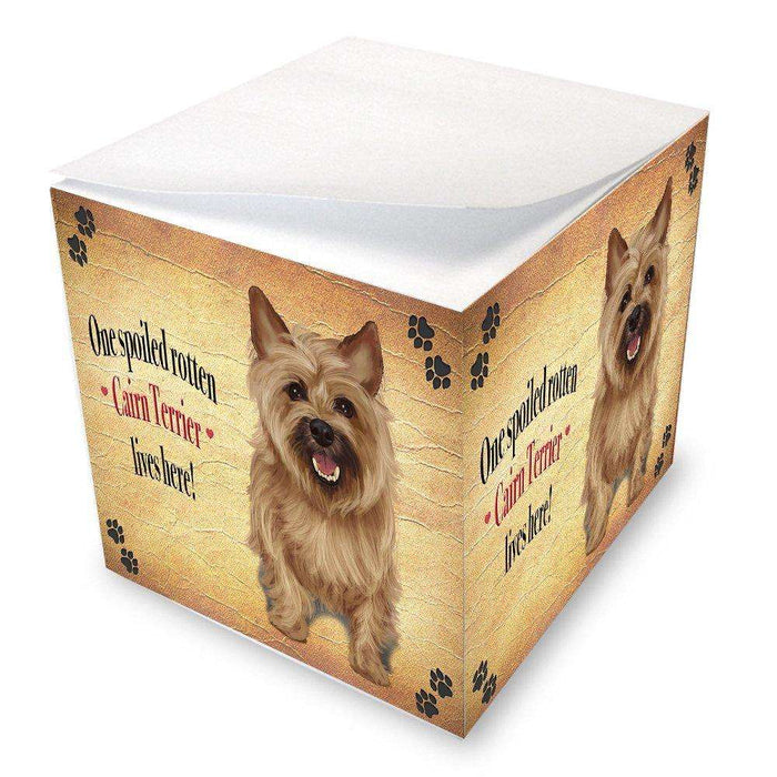 Cairn Terrier Spoiled Rotten Dog Note Cube