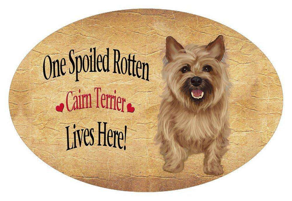 Cairn Terrier Spoiled Rotten Dog Oval Envelope Seals (10)