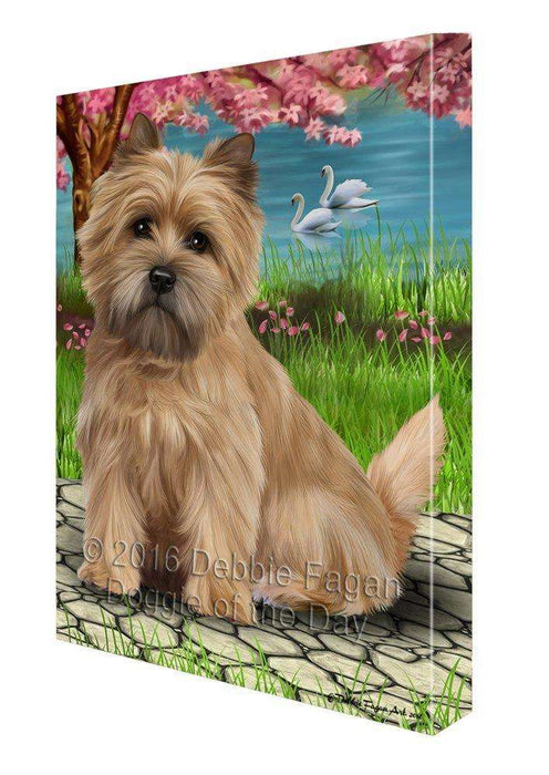 Cairn Terriers Dog Painting Printed on Canvas Wall Art