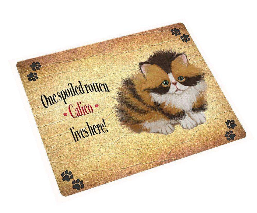 "Calico Spoiled Rotten Cat Magnet Mini (3.5"" x 2"")"