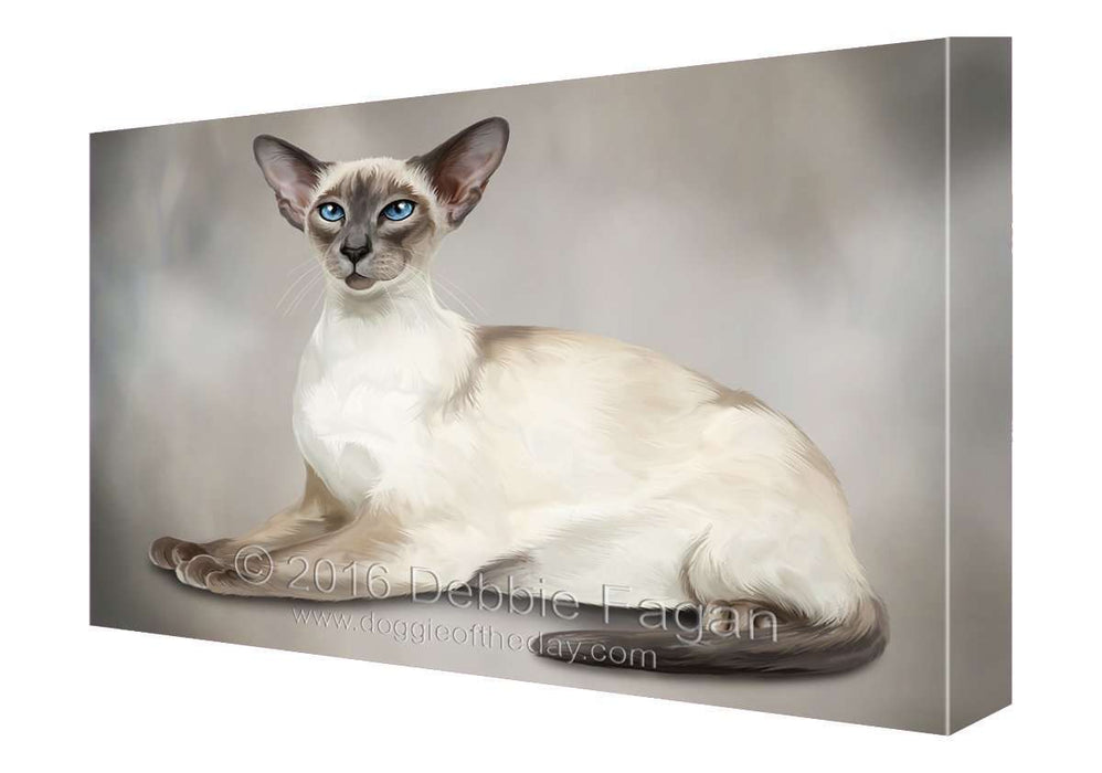 Cat Art Portrait Print Canvas