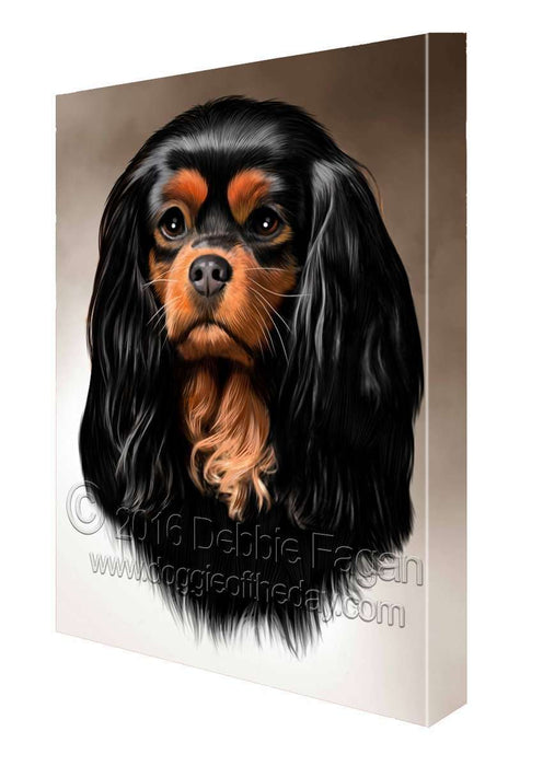 Cavalier King Charles Spaniel Dog Art Portrait Print Canvas