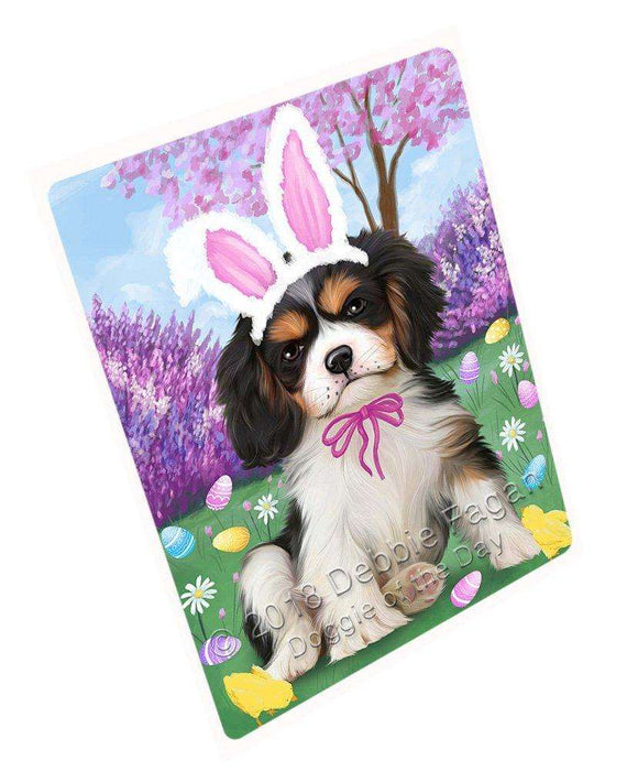 Cavalier King Charles Spaniel Dog Easter Holiday Large Refrigerator / Dishwasher Magnet RMAG54306