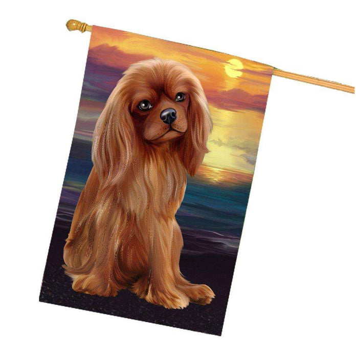 Cavalier King Charles Spaniel Dog House Flag HF307